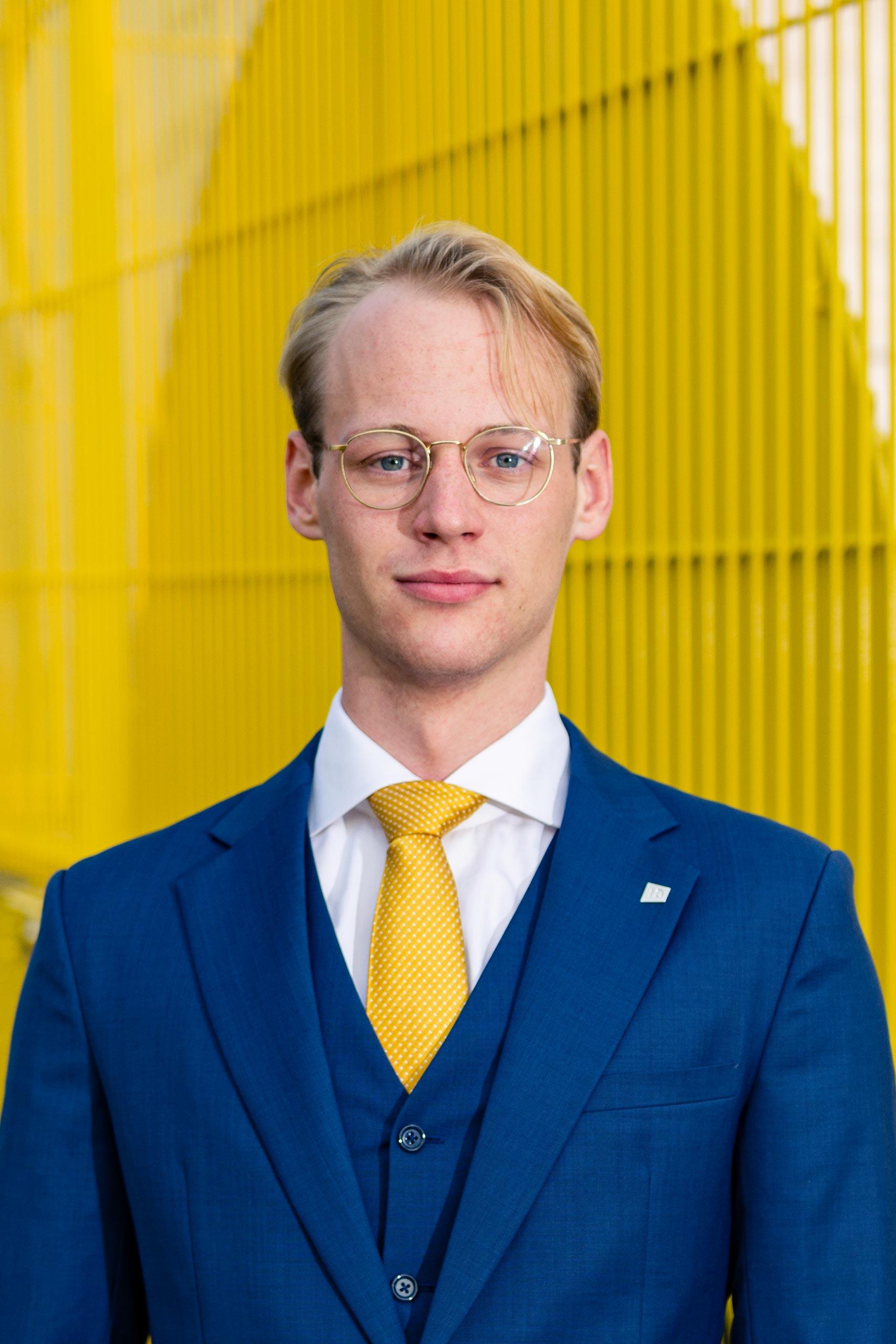 Portrait photo of Nils de Vrijer